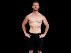 Mike showing off his results from AM Fitness